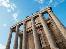 Tempel von Antoninus und von Faustina Stockbild