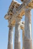 Tempel von Apollo Alte Ruinen in der Seite Lizenzfreie Stockfotos