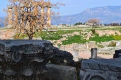 Tempel von Apollo, altes Korinth Lizenzfreie Stockfotografie