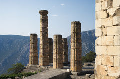 Tempel von Apollo, Delfi Lizenzfreie Stockbilder