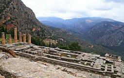 Tempel von Apollo, Delphi, Griechenland lizenzfreies stockfoto