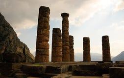 Tempel von Apollo in Delphi, Griechenland lizenzfreie stockfotografie