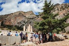 Tempel von Apollo in Delphi, Mittel-Griechenland Stockbilder