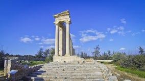 Tempel von Apollo Hylates bei Kourion, Limassol, Zypern stock video