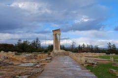 Tempel von Apollo Hylates in Zypern stockfotos