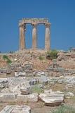 Tempel von Apollo in Korinth Lizenzfreie Stockbilder