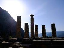 Tempel von Apollo, Schongebiet von Apollo, Berg Parnassus, Griechenland Lizenzfreie Stockbilder