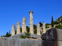 Tempel von Apollo, Schongebiet von Apollo, Berg Parnassus, Griechenland Stockfoto