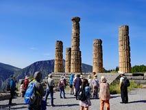 Tempel von Apollo, Schongebiet von Apollo, Berg Parnassus, Griechenland Stockfotos