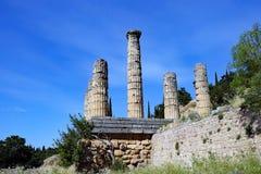 Tempel von Apollo, Schongebiet von Apollo, Berg Parnassus, Griechenland Stockfotografie