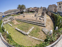 Tempel von Apollo in Syrakus Sizilien Stockbilder