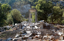 Tempel von Artemis-Hadrian in Termessos, Antalya. Stockfotos
