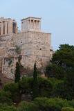 Tempel von Athena Nike an der Akropolise stockfotografie
