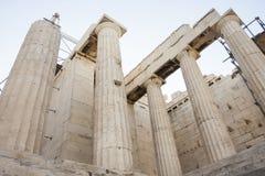 Tempel von Athena Nike in der Akropolise Stockfotos