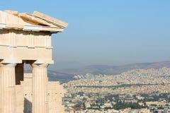 Tempel von Athena Nike in Griechenland-Abschluss oben Stockbilder