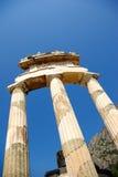 Tempel von Athena Pronoia in Delphi Lizenzfreie Stockfotografie