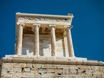 Tempel von Athene in der Akropolise Lizenzfreies Stockfoto