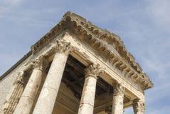 Tempel von August in den Pula lizenzfreies stockbild