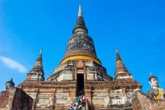 Tempel von Ayutthaya historisch stockfotos