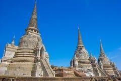 Tempel von Ayutthaya historisch lizenzfreie stockfotos