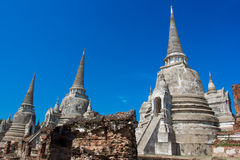 Tempel von Ayutthaya historisch lizenzfreies stockfoto