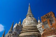 Tempel von Ayutthaya historisch lizenzfreies stockbild