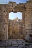 Tempel von Bacchus, Baalbek der Libanon Stockfotografie