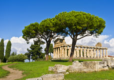 Tempel von Ceres, Paestum Italien Lizenzfreies Stockfoto