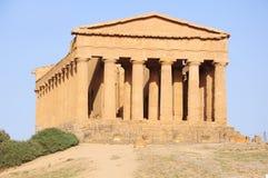 Tempel von Concordia. stockbilder