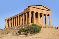 Tempel von Concordia. lizenzfreies stockbild