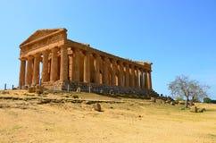 Tempel von Concordia, Agrigent stockfotos