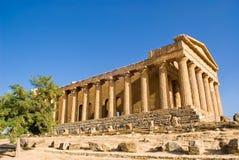Tempel von Concordia, Agrigent stockbild