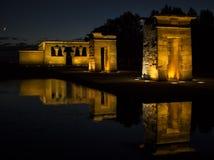 Tempel von Debod Ägyptischer Tempel in Madrid Berühmter Grenzstein Lizenzfreies Stockfoto