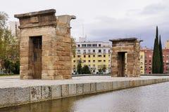 Tempel von Debod, Madrid Stockbild