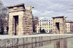 Tempel von Debod in Madrid Stockfoto