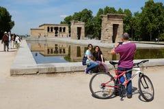 Tempel von Debod - Madrid Lizenzfreies Stockfoto