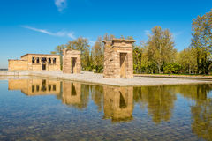 Tempel von Debod in Madrid Lizenzfreie Stockfotos