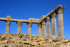 Tempel von Diana, Evora, Portugal Stockbilder