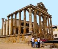 Tempel von Diana, Mérida, Spanien Lizenzfreie Stockbilder