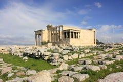 Tempel von Erechtheum Stockbilder