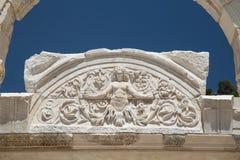 Tempel von Hadrian in alter Stadt Ephesus Lizenzfreie Stockbilder