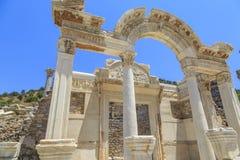 Tempel von Hadrian in Ephesus, Izmir, die Türkei stockfotos