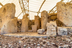 Tempel von Hagar Qim Stockbilder