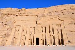 Tempel von Hathor und von Nefertari Stockbild
