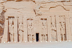 Tempel von Hathor und von Nefertari in Abu Simbel Lizenzfreies Stockfoto