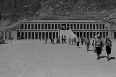 Tempel von Hatshepsut, Ägypten, im Oktober 2002 stockfotos