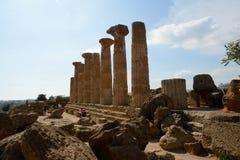 Tempel von Heracles Sizilien stockbild