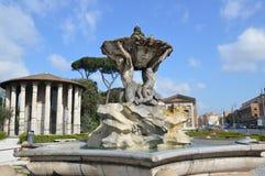Tempel von Hercules Victor, Rom Stockfotografie