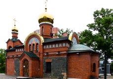 Tempel von Johannes von Kronstadt stockfotos
