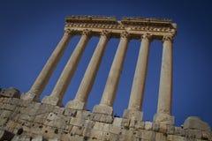 Tempel von Jupiter, Baalbek der Libanon Stockfotografie